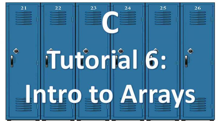 Intro to arrays in C